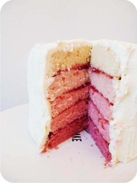 Wonderbaarlijk Roze laagjes taart (Ombre cake) (Pagina 1) - Taarten Parade NH-08