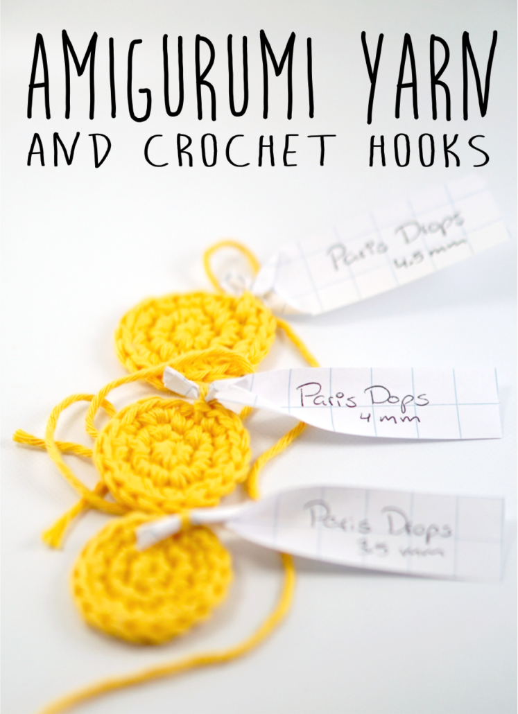How to choose your yarn and crochet hook for amigurumi