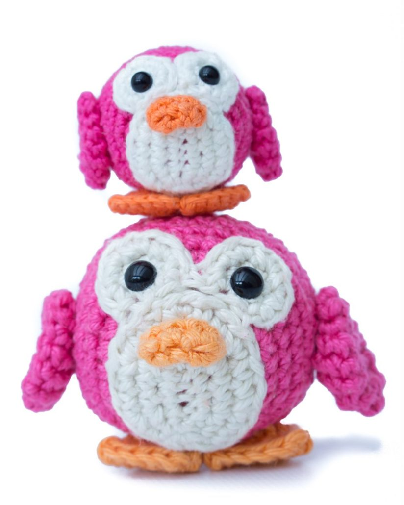 Amigurumi Penguin Yarn and Colors