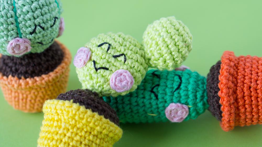 Amigurumi Cactus : Mexican cactus amigurumi crochet photo tutorial