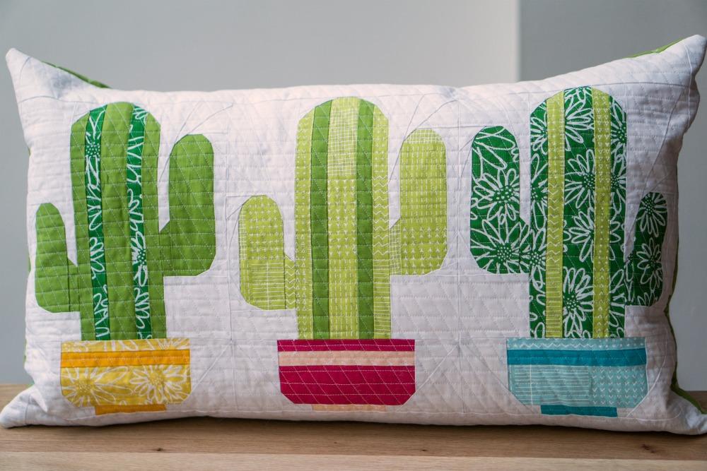 Mini Quilt Cactus Pillow Sugaridoo